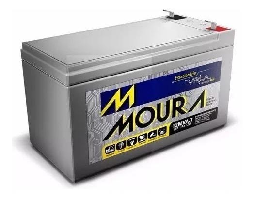 Bateria 7ah 12v Vrla Moura - No Break Cerca Elétrica / Cftv