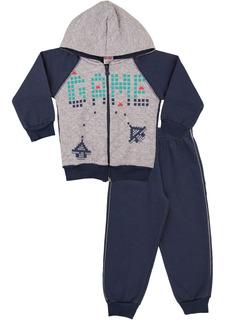 Roupa Bebê Menino Conjunto Moletom Calça E Casaco Matelasse