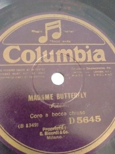 Coro Madame Butterfly La Gioconda Disco Pasta D5645 C24