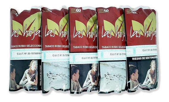 Tabaco Las Hojas Rubio X 50g - Pack X 5 Unidades