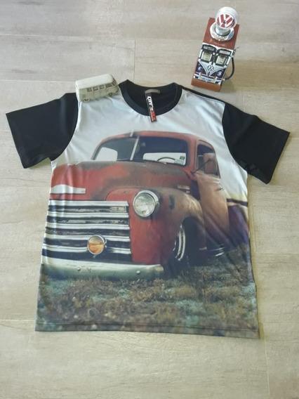 2 Camisetas Caminhonete F100 E Boca De Sapo 3100