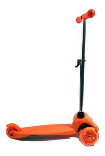 Monopatin Scooter 3 Ruedas C/ Luz Naranja