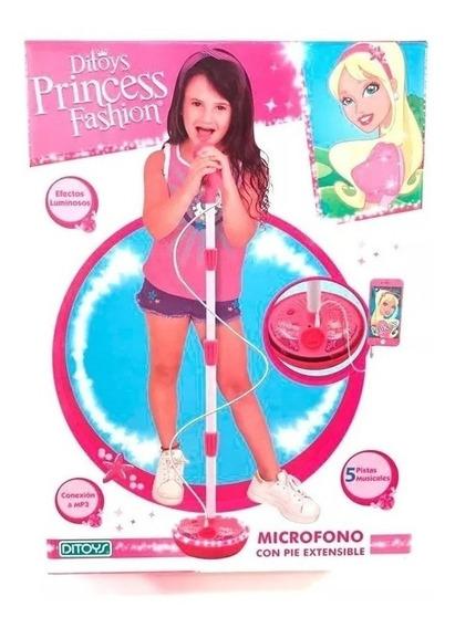 Microfono Con Pie Princess Fashion - Ditoys