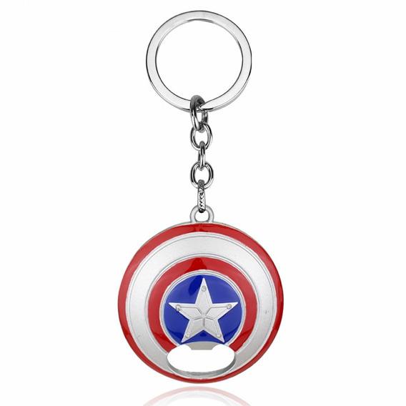 Llavero Marvel Advengers Capitán América Destapador