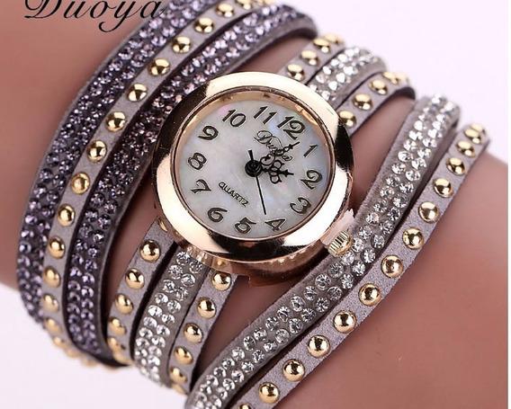 Relógio Feminino Bracelete Prata Na Caixa Para Presente