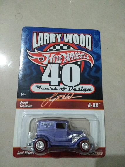 Ford A-ok Larry Wood Autografado Hot Wheels
