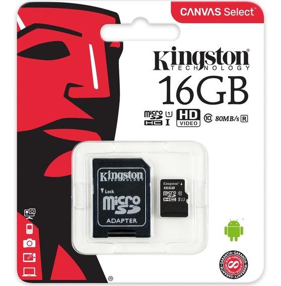 Cartão De Memória - Microsdhc - 16gb - Kingston - Classe 10