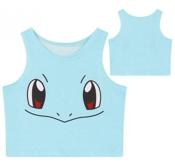 Blusa Top Cropped Pokemon Squirtle