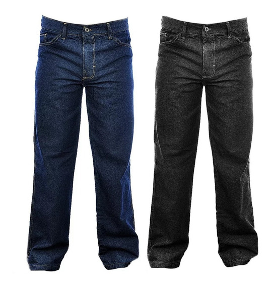 Kit 3 Calça Jeans Masculina Basica Tradicional Trabalho