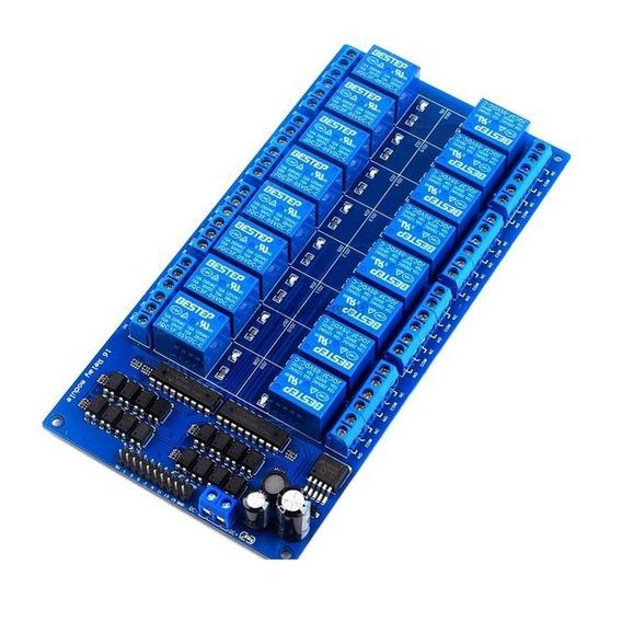 Módulo Relé De 16 Canais + Jumpers - Automação - Arduino