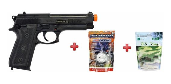 Pistola Airsoft Taurus Pt92 + Bbs 2000un .12g + 5000 0.20g