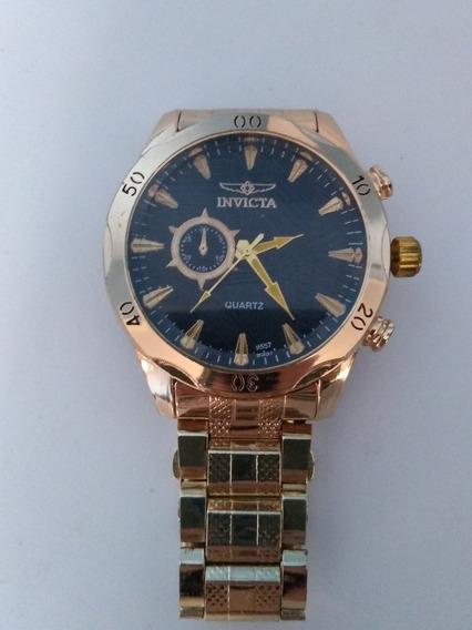Relógio Masculino Analógico Importado Dourado