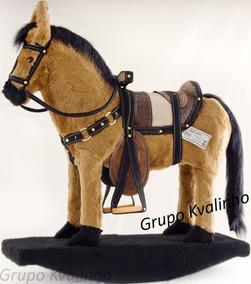 Cavalo Luxo Cavalinho De Balanço Madeira E Pelucia Top