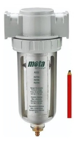 Imagen 1 de 10 de Filtro De Aire Para Compresor Trampa De Agua Mota A222 + Reg