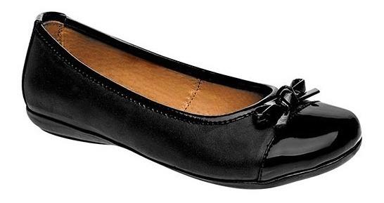 Zapato De Piso Dama Coqueta 55908-a Negro 22-26 U61838 T2