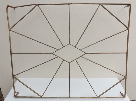 Antiga Grade Casarão 88x71cm (porta Colonial Janela Arandela