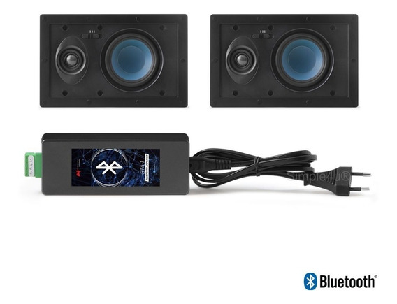 Kit Som Ambiente Caixa De Embutir C/ Bluetooth Bta-1 Aat