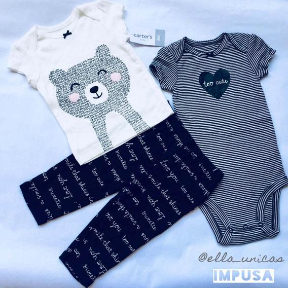 Body Camisa Monito Carters Importado Original Bebes Niñas