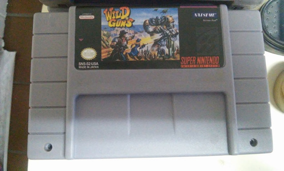 Fita Wild Guns Jogo Snes Cartucho Super Nintendo Classico