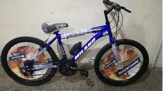Bicicleta Rodado 24 Milano 24 Velocidades Rosario