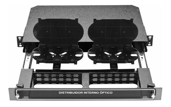Distribuidor Optico Dio 24 Fibras C/ Bandeja E Painel Rack19