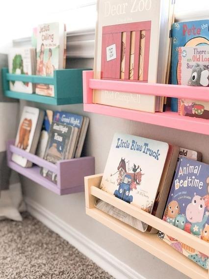 Repisa Montessori Madera 4 Pzas De 40 Cm Nórdico Huacal