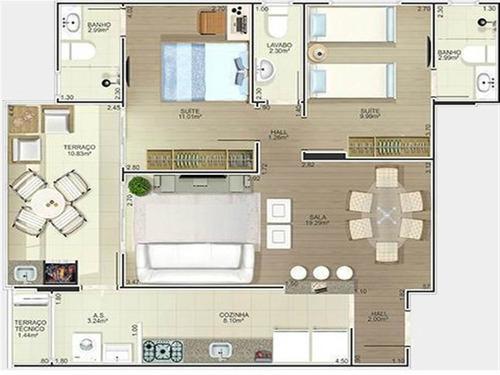 Imagem 1 de 15 de Dormitórios,  Suítes - Forte -pg - Masot53