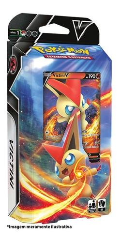 Imagem 1 de 3 de Card Game Pokémon Tcg Ee6 Reinado Arrepiante Deck Victini V