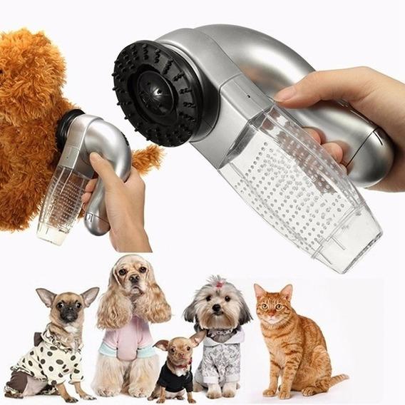 Massageador Para Cachorro Escova Aspirador Removedor Pelos