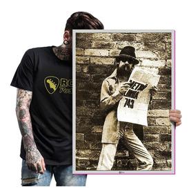 Quadro Raul Seixas Bandas De Rock Anos 80 Poster T. A2 03