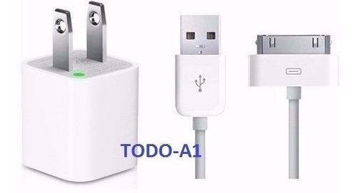 Cable Cargador Certificado Usb iPhone 4 4s iPod Todo-a1