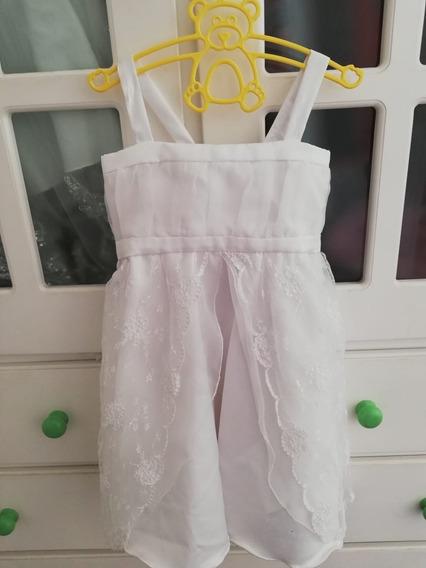 Vestido Niña Fiesta Cortejo Blanco Novia Largo 2 / 3 Años