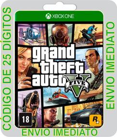 Gta 5 Grand Theft Auto V Promoção Xbox One Código 25 Dígitos