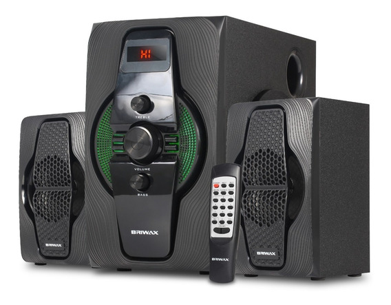 Home Theater Subwoofer 2.1 Bluetooth Caixa Som Tv Pc 50w Rms