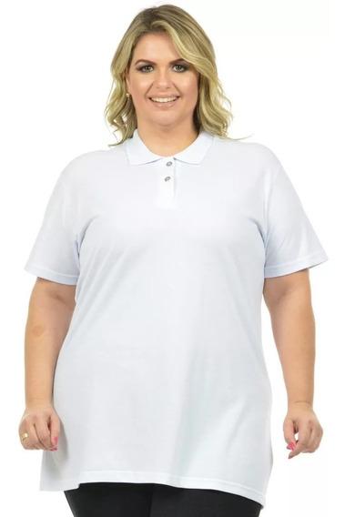 Kit 5 Camisas Feminina Polo Piquet Femininas Plus Size