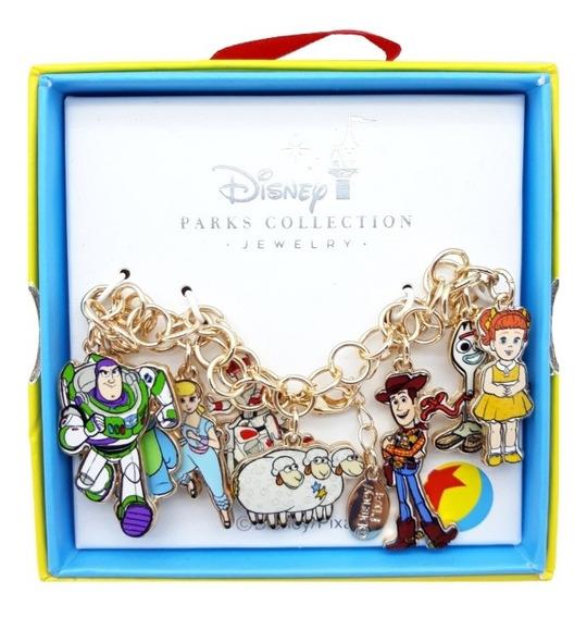 Disney Parks Joyeria Toy Story 4 Pulsera Con Dijes