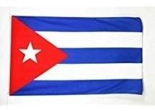 Bandera Cuba Cerem. Escritorio C/mástil De Mad (104141)