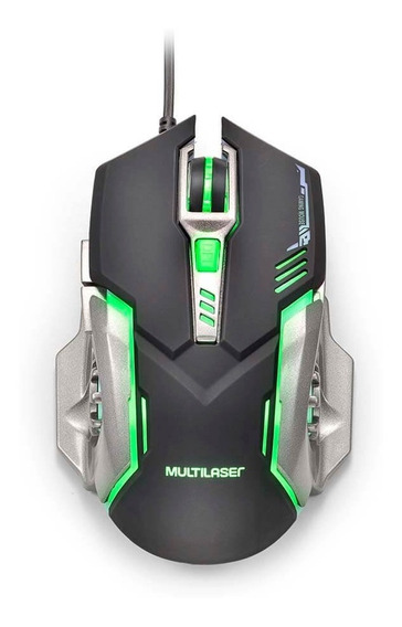Mouse Gamer 2400dpi Mo269 Preto E Grafite Com Led Multilaser