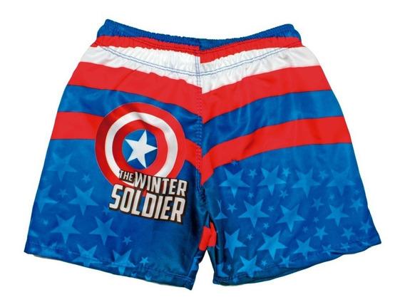 Short Para Niños Capitán América