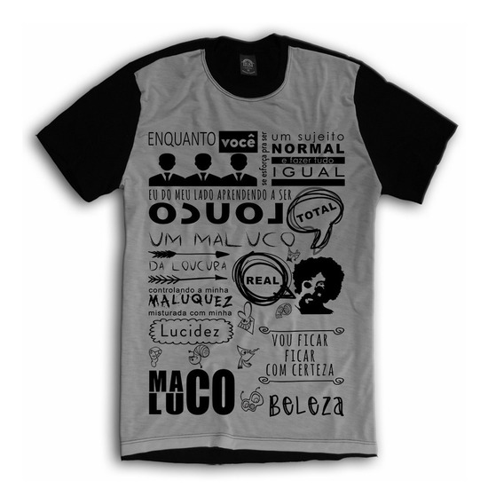 Kit 2 Camisetas A Maçã Raul Maluco Beleza Musica Rock Brasil
