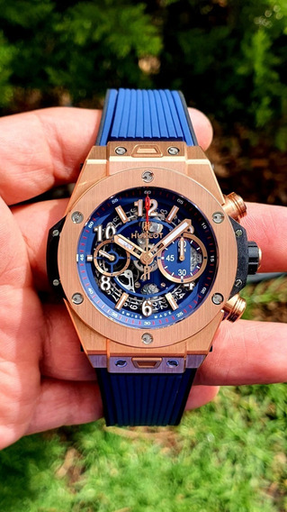 Hublot Big Bang Unico King Gold Blue Cronóga. 411.ox.5189.rx