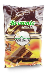 Brownie Del Cerro Arequipe 50gr Display X - kg a $2