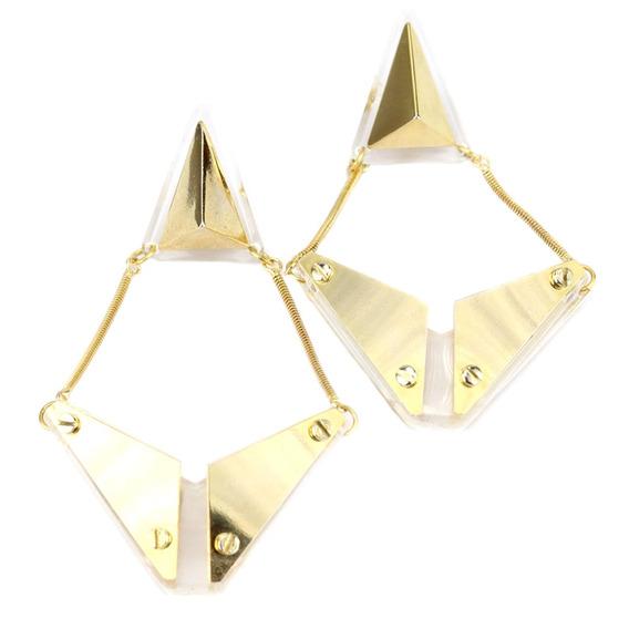 Brinco Resina Dourado Yali - Br010280