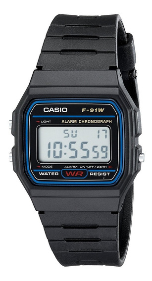 Relógio Casio Digital Unissex Vintage F-91wg 9qdf