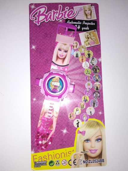 Relógio Digital Da Barbie Com Projetor De Imagens