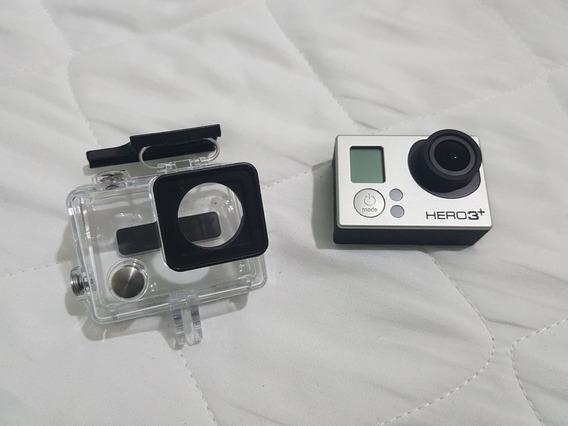 Filmadora Gopro Hero 3 + 4 Baterias + Carregador + Lcd