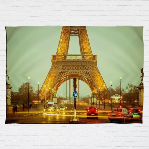 Stompy Bandeira Decorativa Tecido Torre Eiffel França Paris