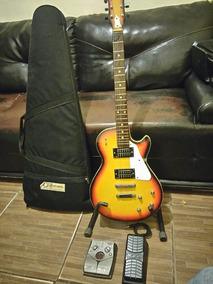 Guitarra Tonante Les Paul, Pedaleira Zoom505ii Com Expressão