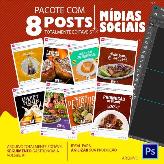 Post Para Redes Sociais Editável - Gastronomia - Vol - 01