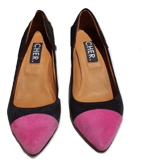 Zapatos María Cher Gamuzados Combinados